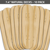 7.4 Natural Decks 10 Pack