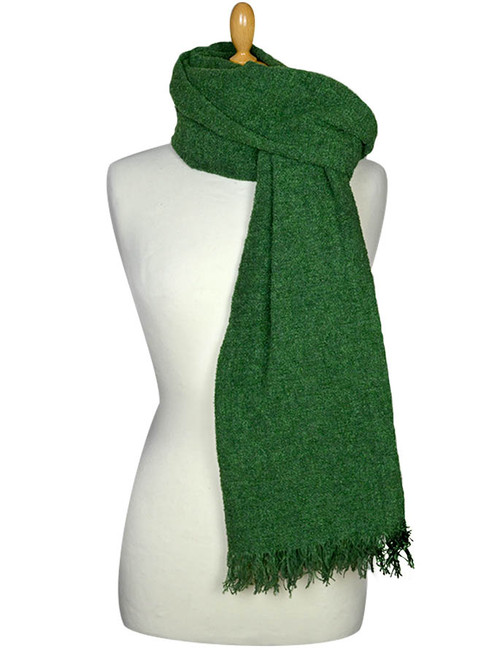 Fine Lambswool Celtic Stole - Emerald Green