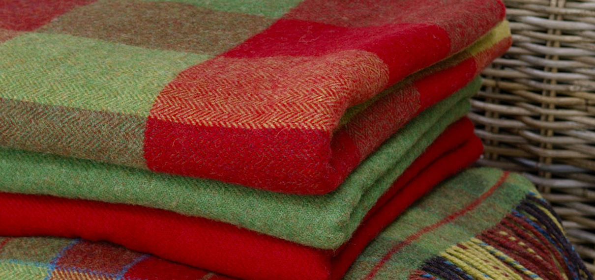 Foxford Woolen Mills - Irish Wool Throws, Irish Scarves