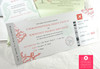 Boarding Pass Invitations + RSVP Tag Style in Folder