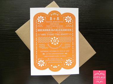 Papel Picado Fiesta Engagement Invitation