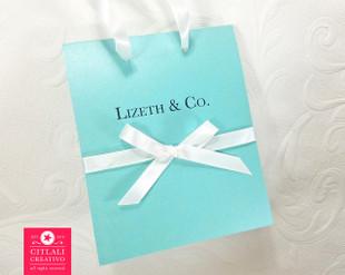 Tiffany Bag Quinceañera Birthday Invitations