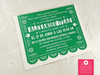 "4.25x5.5"" Size (A2) Papel Picado Banner Baptism / Bautizo Invitations in green"