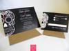 Black & Red Large Skull Wedding Invitation & RSVP card