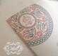 Ganesha Henna Menhdi Corner Paisley Medallion Thank You Folded Card