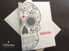 Large Bold Sugar Skull Gracias or Thank You Cards
