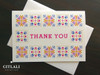 Colorful Talavera Spanish Tile Border Thank You Cards