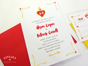 Corazon Sagrado Sacred Heart Wedding Invitations