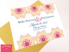 Mandala Indian Wedding Save the Dates