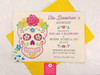 Floral Garden Fiesta Sugar Skull Birthday Party Invitations