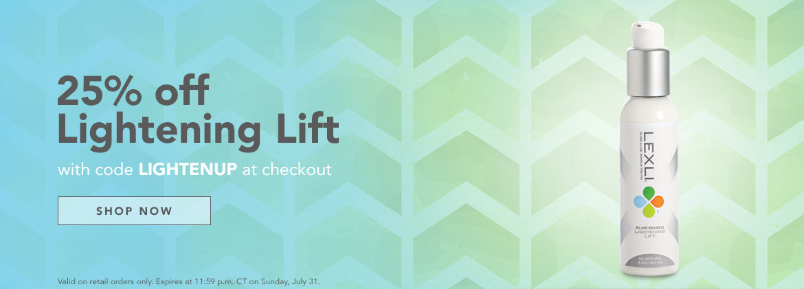 25% off Lightening Lift now through July 31st with code LIGHTENUP