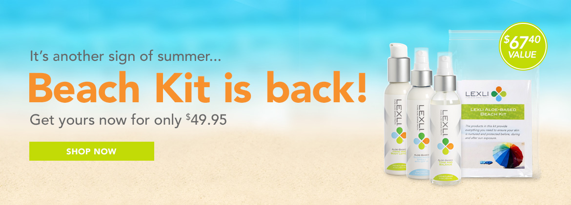 The beach kit is back! Get yours now for $49.95 ($67.40 value)