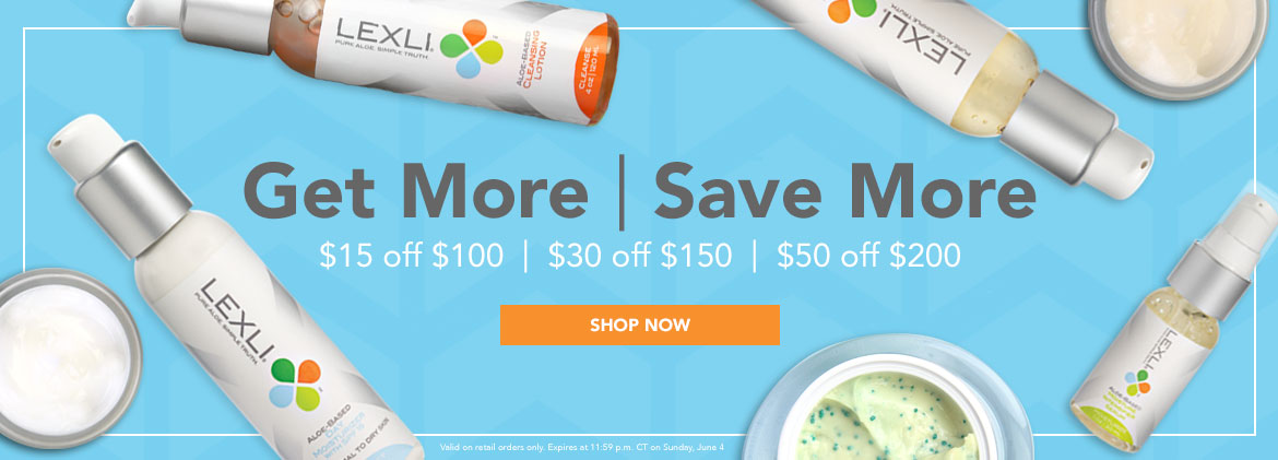 Get More Save More, $15 off $100, $30 off $150, $50 off $200, no code necessary now through Sunday June