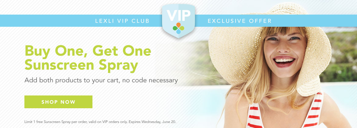 Exclusive VIP Deal: Buy One, Get One Sunscreen Spray. Add both products to your cart, no code necessary.