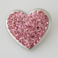 PINK V CLUSTER PAVE CRYSTAL HEART