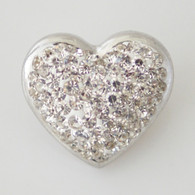 WHITE CLUSTER PAVE CRYSTAL  HEART