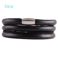 ZILLION BLACK TRIPLE LEATHER BRACELET