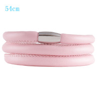 ZILLION PINK TRIPLE LEATHER BRACELET