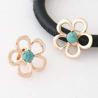 ROSE GOLD TURQUOISE DAISY  Z-CHARM