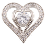 POSH ZIRCON CRYSTAL HEART