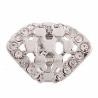 SILVER CLUSTER DIAMOND  Z-CHARM