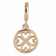 GOLD LINK HEART  Z-CHARM