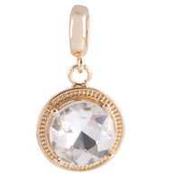 GOLD CRYSTAL GLASS DANGLE  Z-CHARM