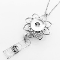 ID HOLDER HEART FLOWER & LANYARD PENDANT