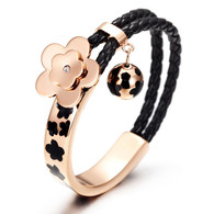 LUXE AUBRIETA FLOWER (ROSE GOLD-BLACK)
