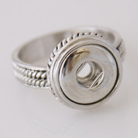 ROPE SILVER RING - SIZE 8.5