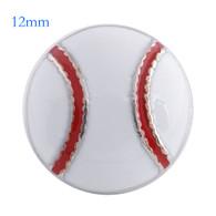 MINI BASEBALL - WHITE & RED