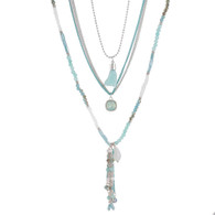 DUBAI MULTILAYERS NECKLACE - TURQUOISE