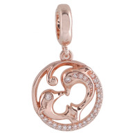 ROSE GOLD DOLPHINS LOVE  Z-CHARM