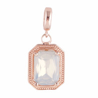 ROSE GOLD LIGHT JADE GLASS DANGLE  Z-CHARM