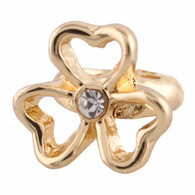 GOLD  FLOWER HEART  Z-CHARM