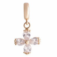 GOLD  ZIRCON CROSS  Z-CHARM