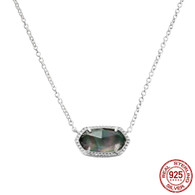 LISS - BLACK OPAQUE SHELL (NECKLACE)