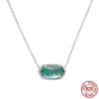 LISS - IRIDESCENT GREEN AGATE (NECKLACE)