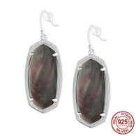 LISS - BLACK OPAQUE SHELL (EARRINGS)