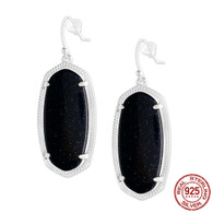 LISS - DEEP BLUE AGATE (EARRINGS)