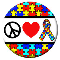 PE - AUTISM (PEACE-HEART-RIBBON)