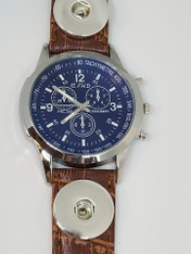 WATCH - LEATHER BROWN (THREE NEEDLE)
