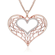 A KIND HEART NECKLACE - ROSE GOLD