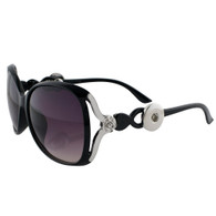 SUNGLASSES - STYLISH SILVER ROSE (BLACK)