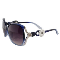 SUNGLASSES - STYLISH SILVER ROSE (NAVY BLUE)