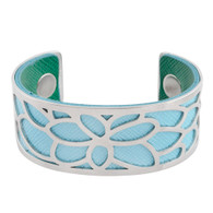 LUXE SS TWO IN ONE BANGLE - FLOWER