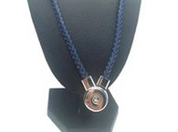 JUST ONE LEATHER NECKLACE - NAVY
