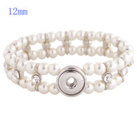STRAND TWO LAYERS PEARLS BRACELET - WHITE