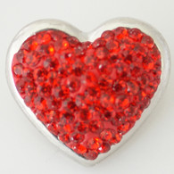 RED CLUSTER PAVE CRYSTAL  HEART