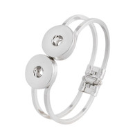 TWO OF US SILVER ARM BANGLE